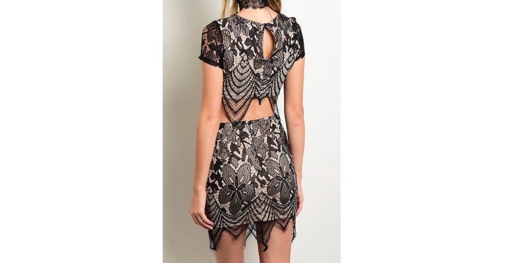 Image of Floral Lace Skirt Set
