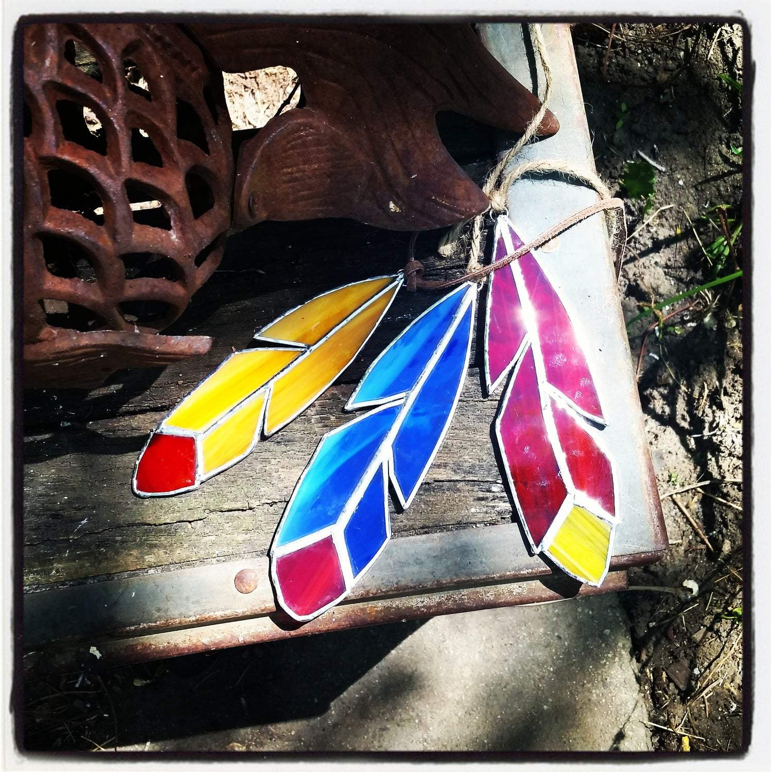 Image of Classic Feather - stained glass