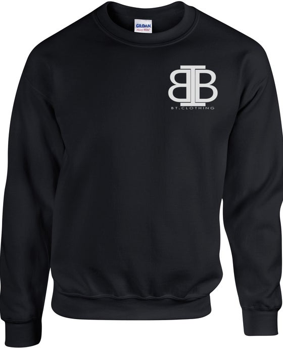 Image of Premium Black Pull Over Jumper With Small Logo