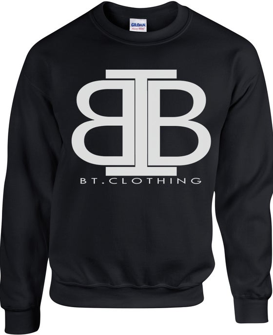 Image of Premium Black Pull Over Jumper With Big Logo