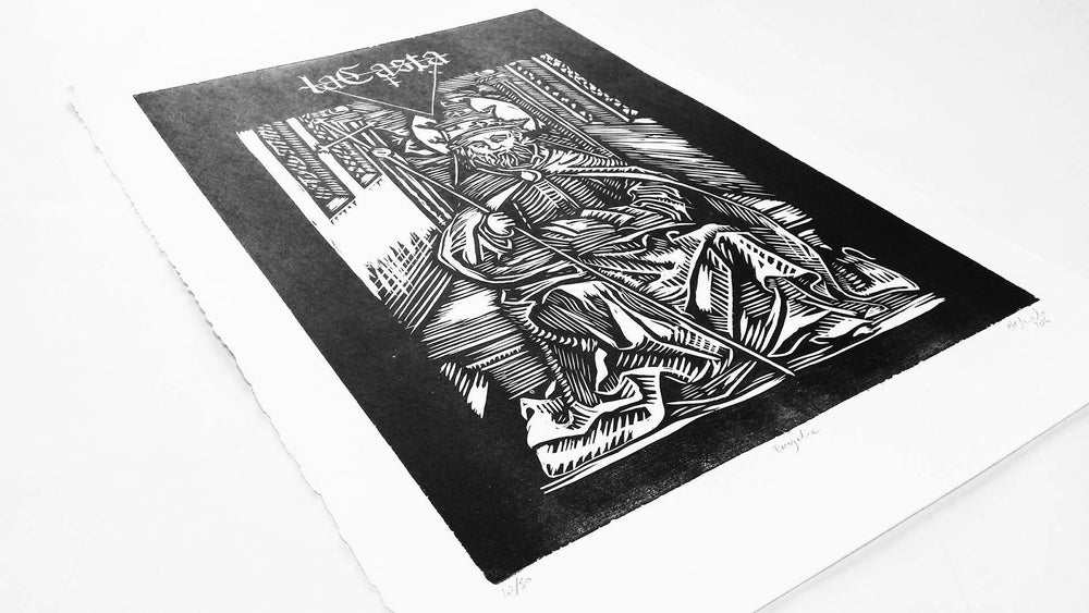 Image of 'Encyclia' strictly limited edition xylography