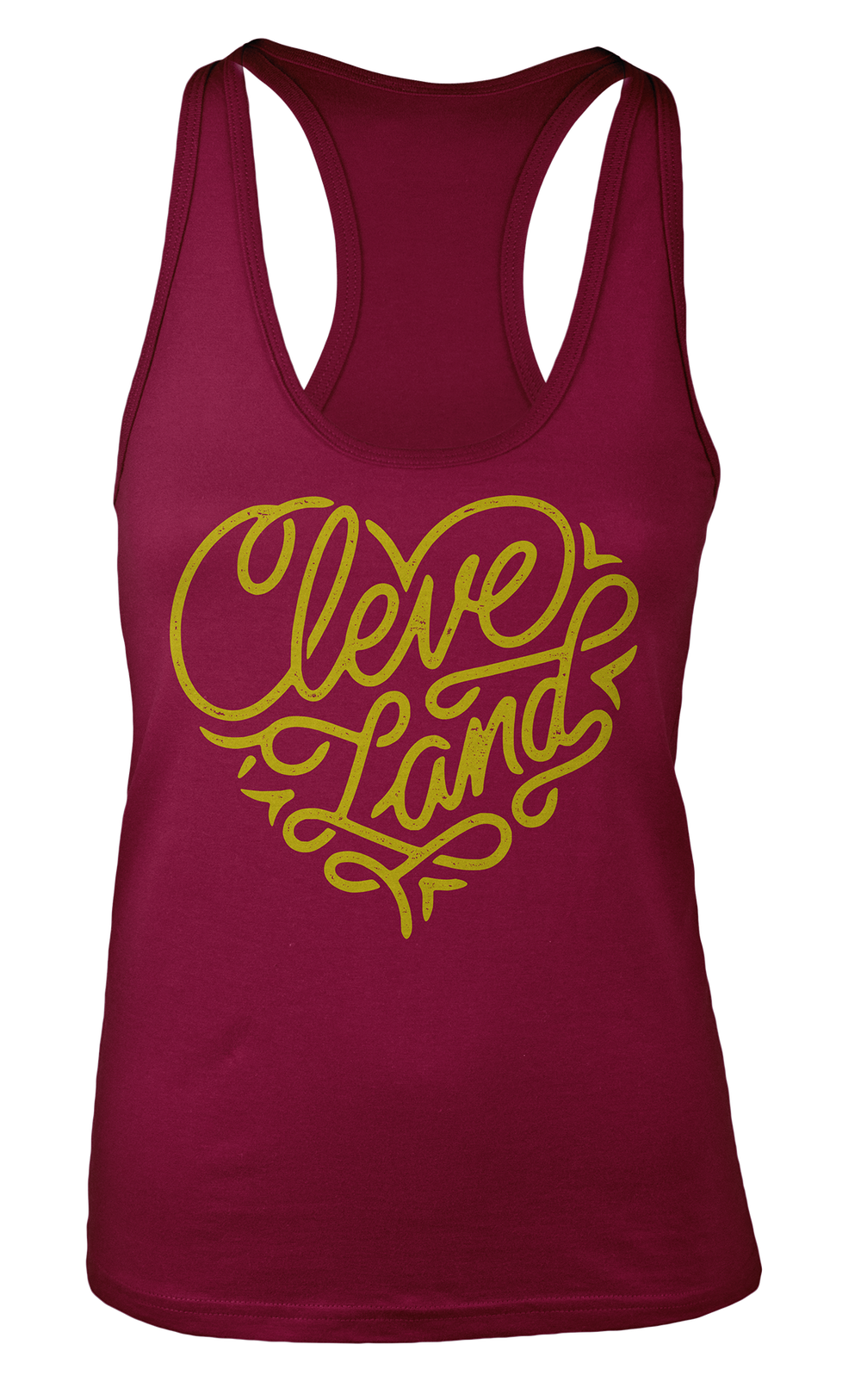 Image of Cleveland Heart Ladies Tank Maroon
