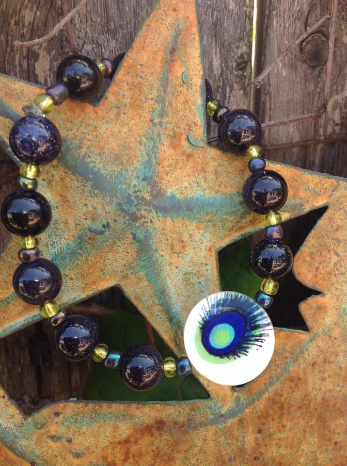 Image of Peacock GoldStone Goddess~Gold Stone
