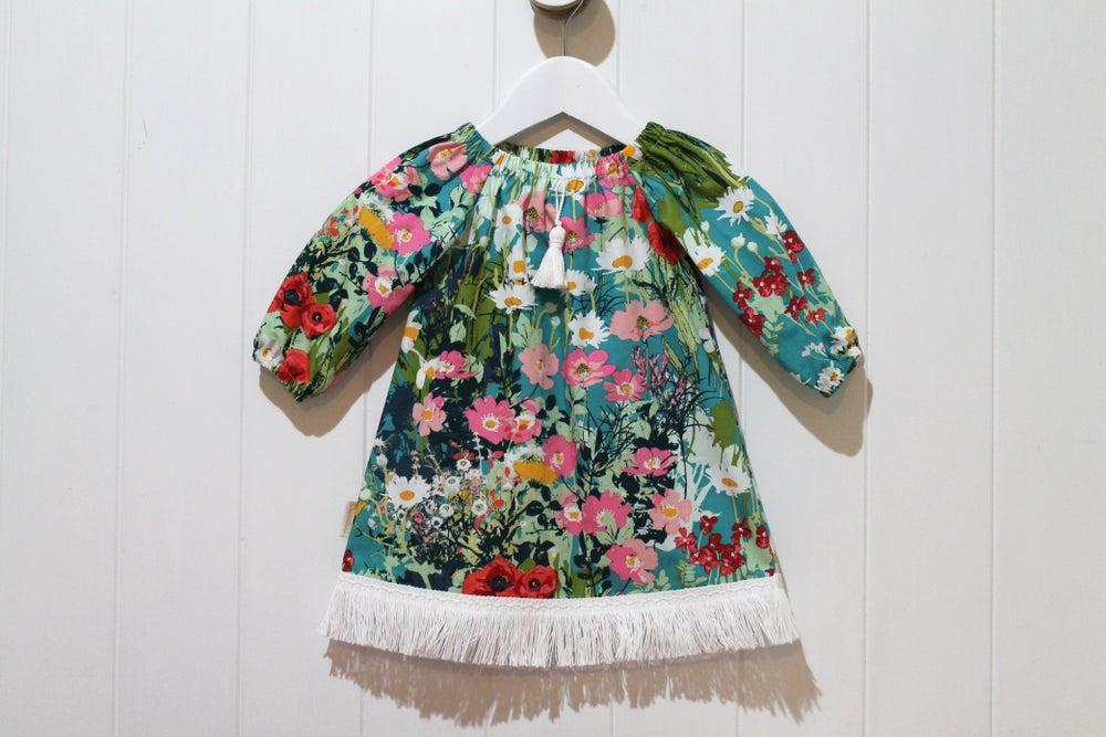 Image of Gypsy Garden - Boho Tassel Dress