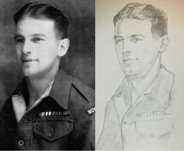 Image of Pencil Portraits of WW1 & WW2 ancestors A4