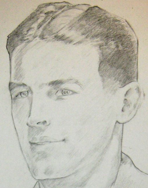 Image of Pencil Portraits of WW1 & WW2 ancestors A4/A3