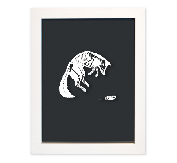 Image of Fox & Mouse Papercut