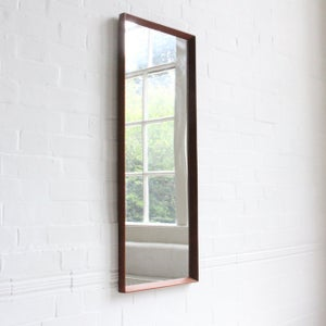 Image of Danish teak mirror