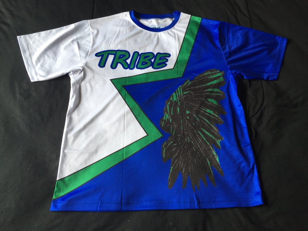 "Image of Tribe short sleeve soccer jersey ""Seattle Wave"""