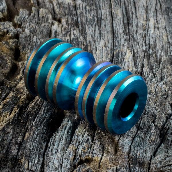 Image of Aqua & Bronze Triple Bead Set #1
