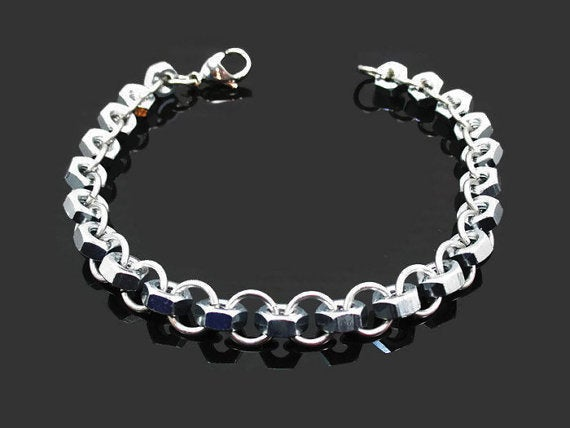 Image of Hex Nut Car Part Charm Bracelet