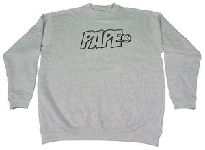 Image of Paperstack Apparel 'PAPE' Crewneck (Black/Snow Marle) RRP $59.95