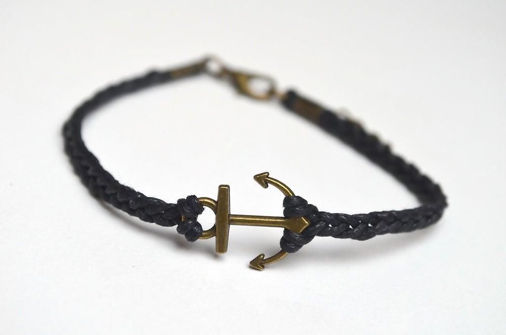 Image of hochqualitatives und handgeknüpftes Armband (schwarz)