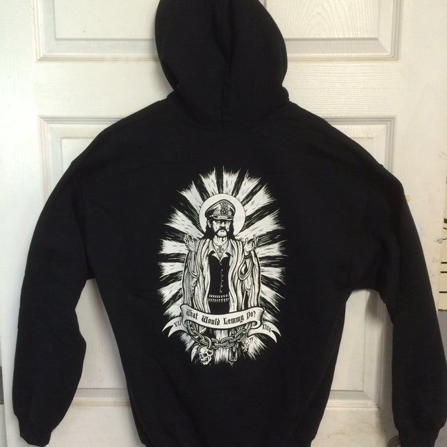 Image of What would Lemmy Do Hooded Pullover Sweatshirt WWLD