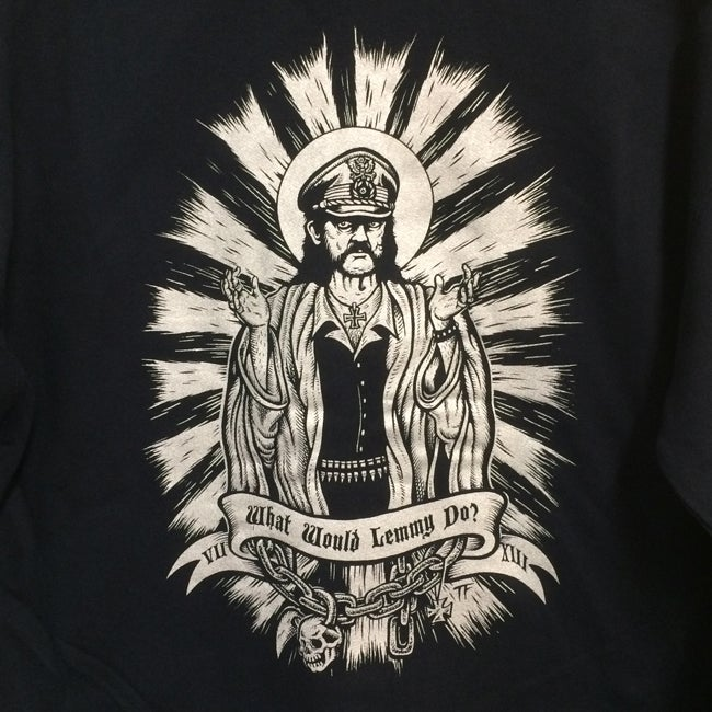 Image of What would Lemmy Do Zipper Hooded Sweatshirt WWLD