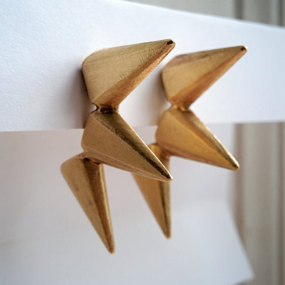Image of Triple Deco Spike Earrings