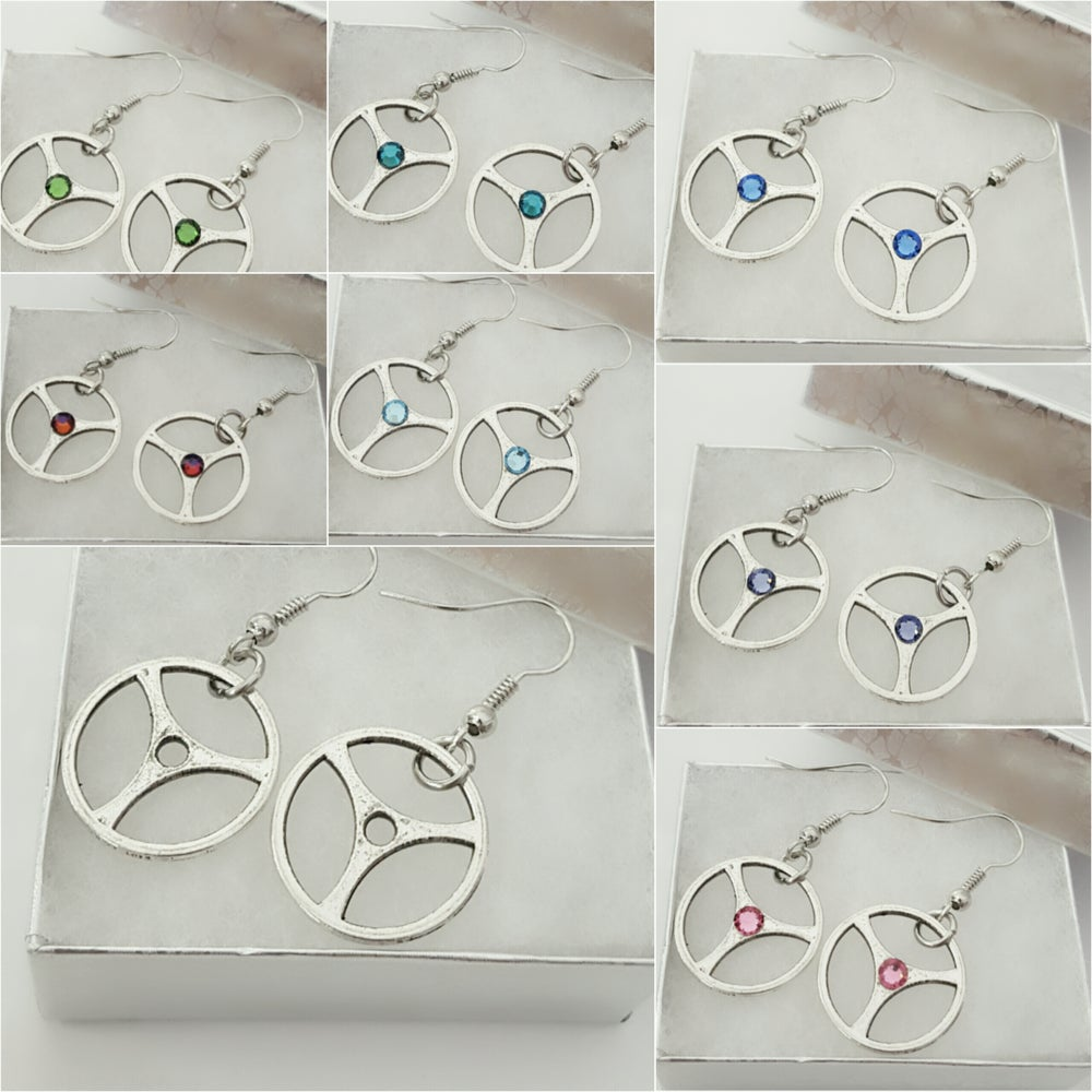 Image of Steering Wheel Earrings