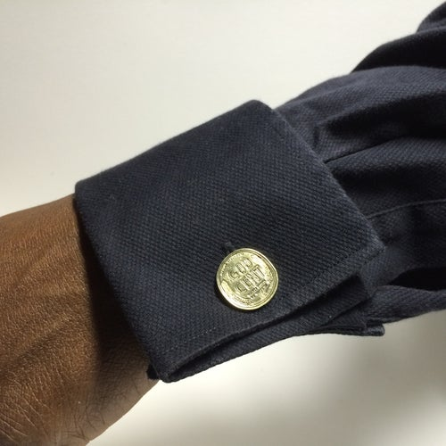 Image of God Cent Coin Cufflinks