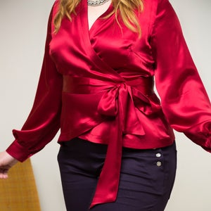 Image of UPPER EAST SIDE SILK BLOUSE 1