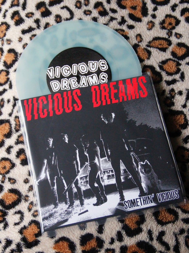 "Image of Somethin' Vicious 7"" (GLOW IN THE DARK vinyl)"