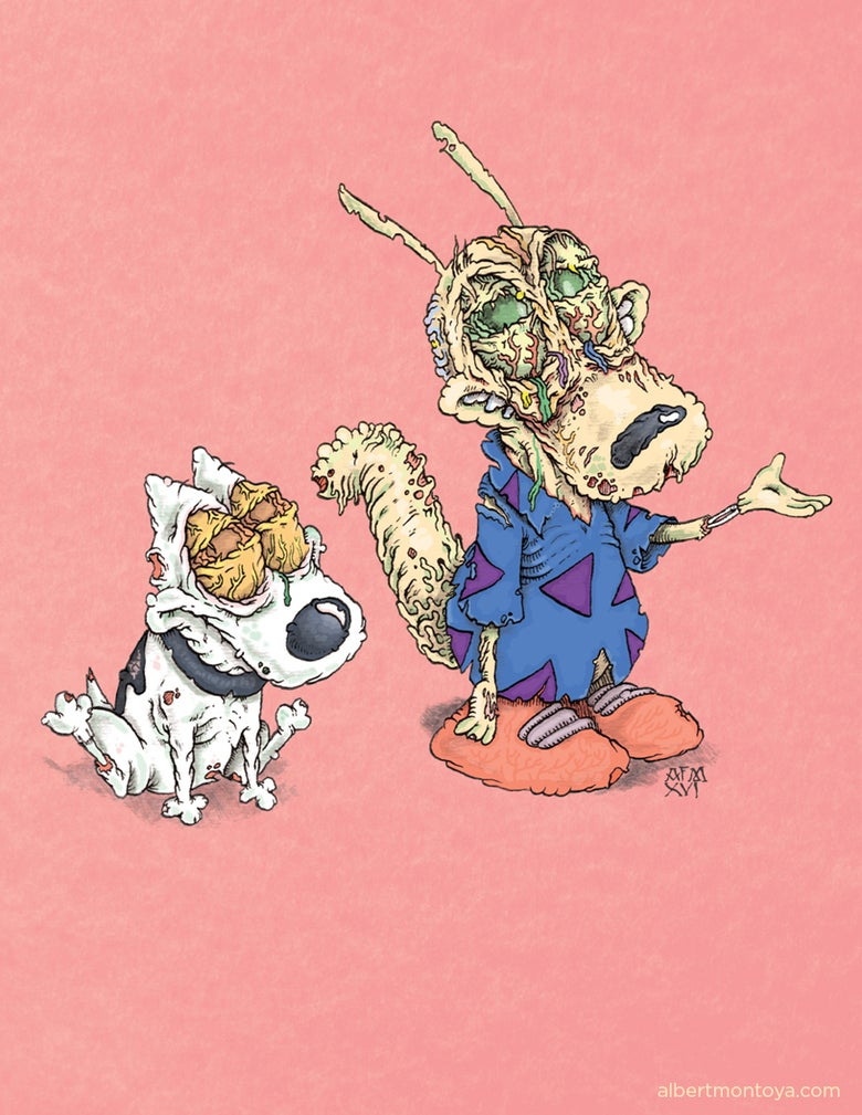 "Image of Print ""Rocko's Zombie Life"""