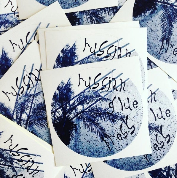 "Image of Russian Glue Press ""Round Sticker"""