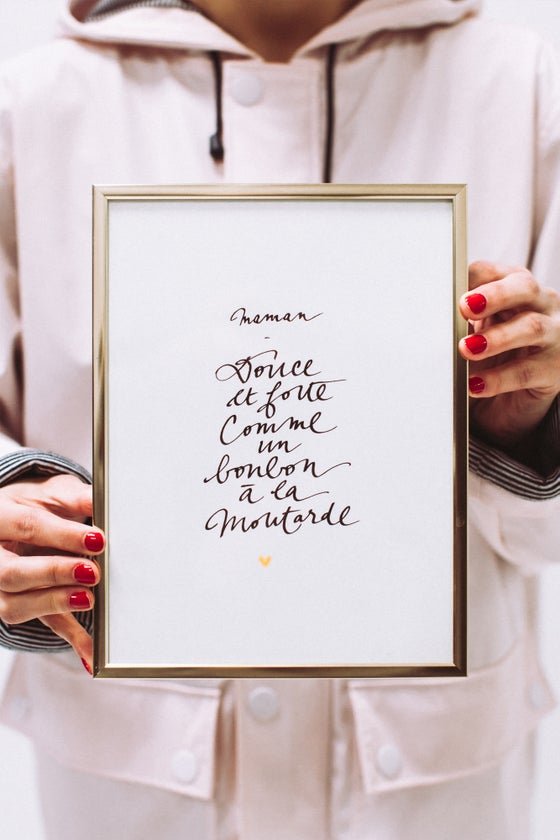 Image of CALLIGRAPHIE • Maman douce