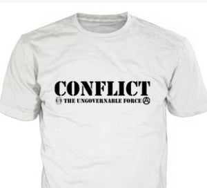 Image of Conflict Ungovernable Force White Shirt