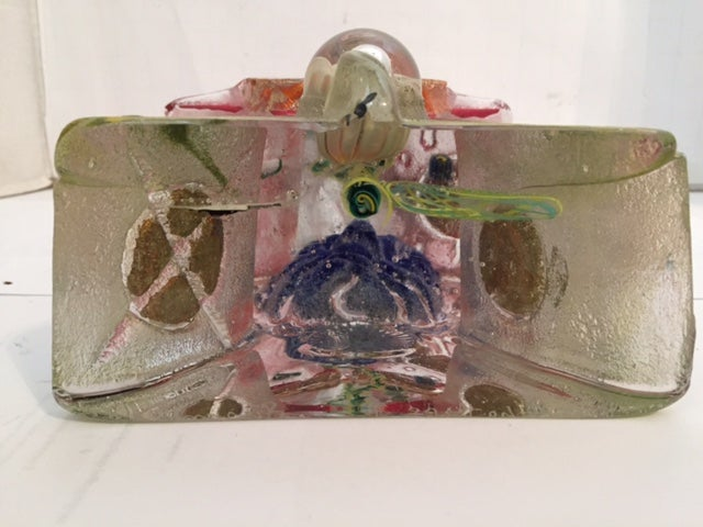"""Image of Susan Gott Signed Beautiful Glass Art """"Arch Type I"""" One Of A Kind Sculpture"""