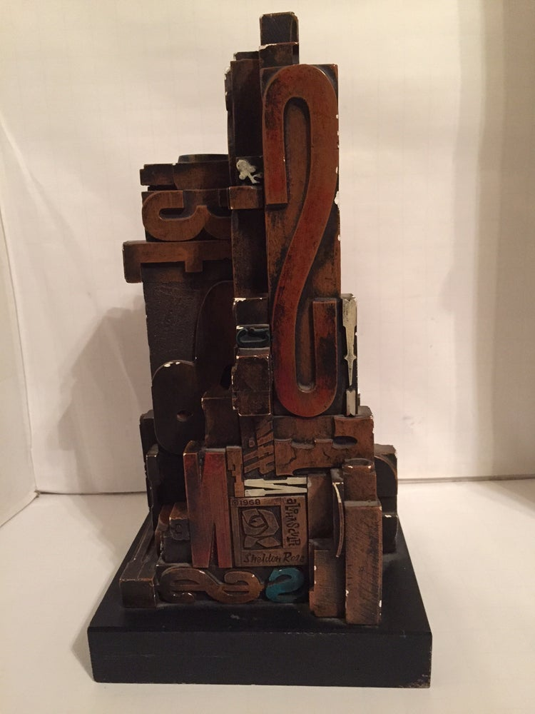 Image of Mid-Century Modern Sheldon Rose Alpha Sculpture, Circa 1968, Polychrome Resin