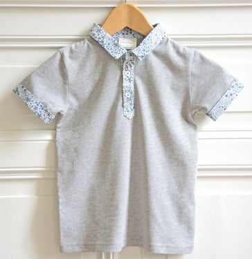 "Image of SS16 <> Tshirt polo bébé garçon ""JO Adelajda Bleu"""