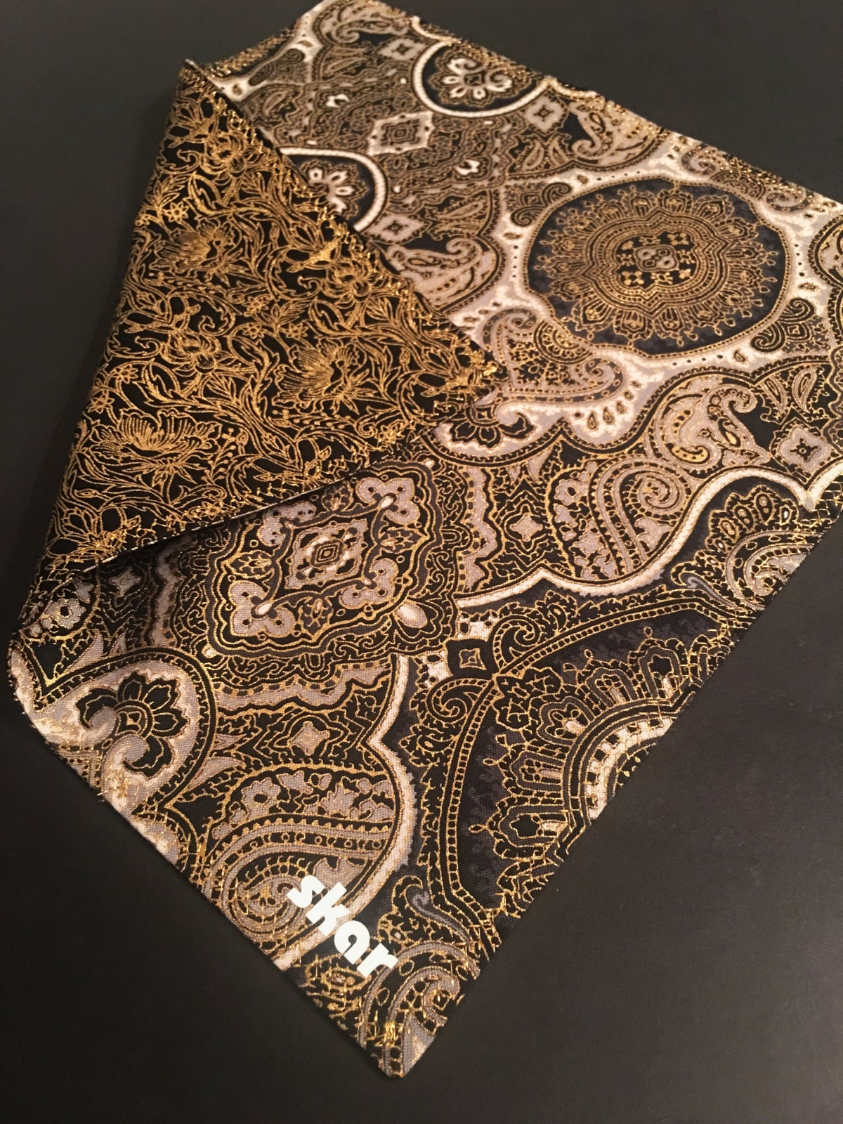 Image of Black and Gold Paisley