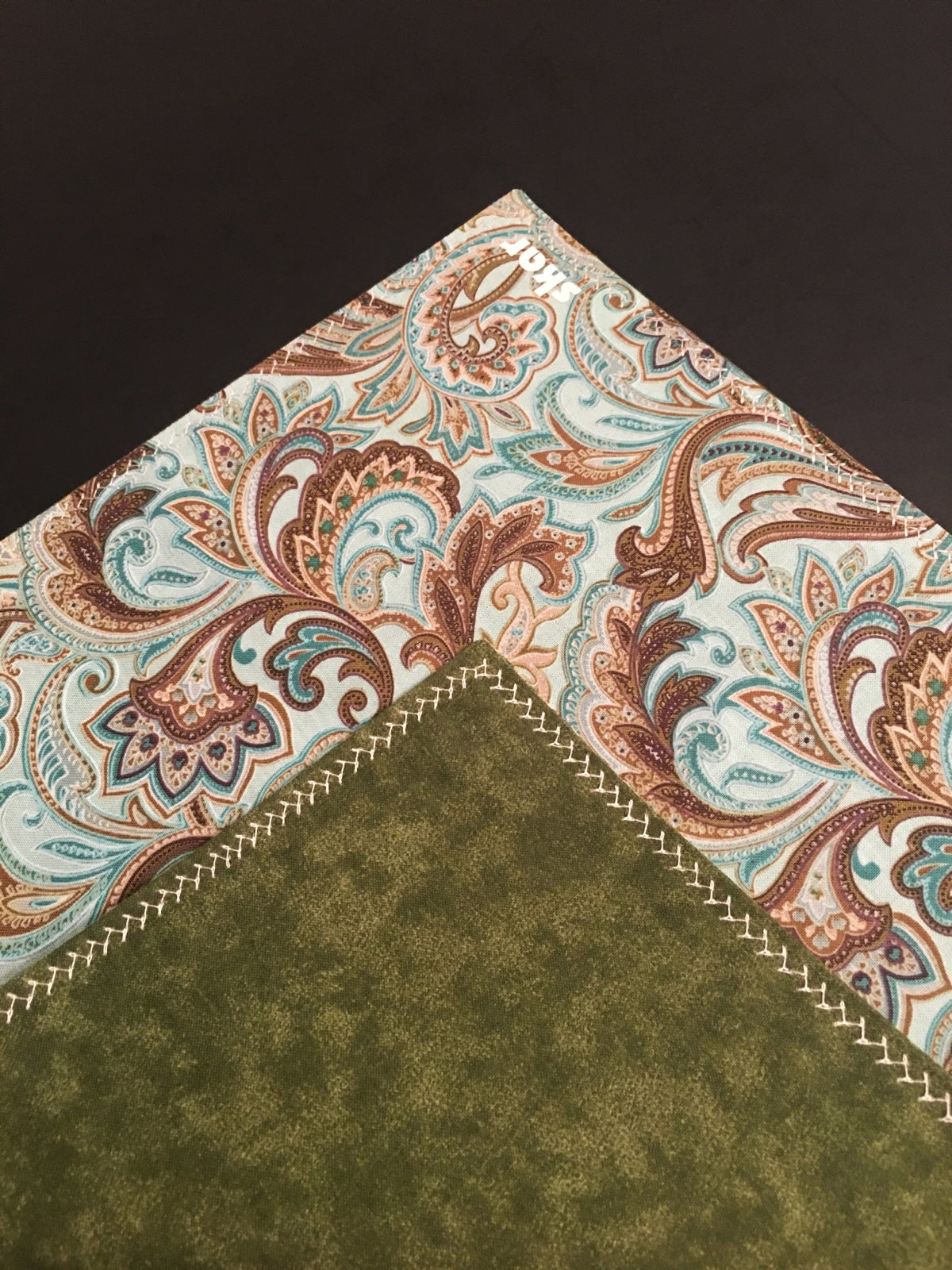 Image of Blue and Green Paisley