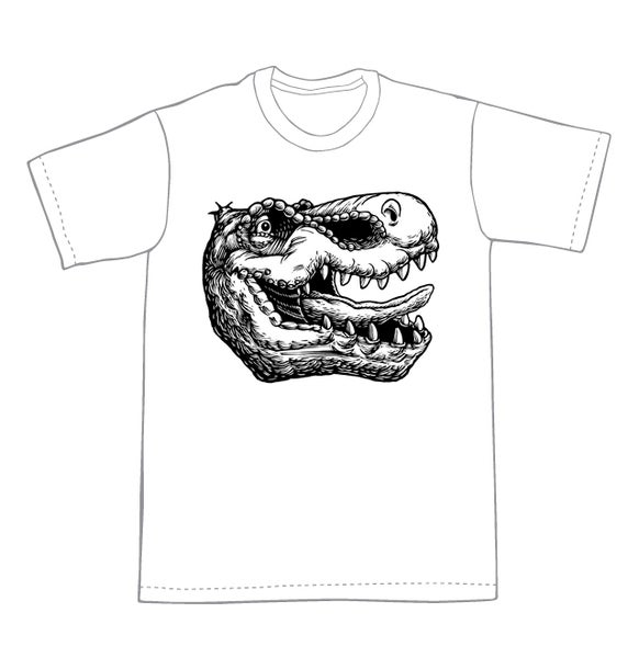 Image of T-Rex head T-Shirt **FREE SHIPPING**
