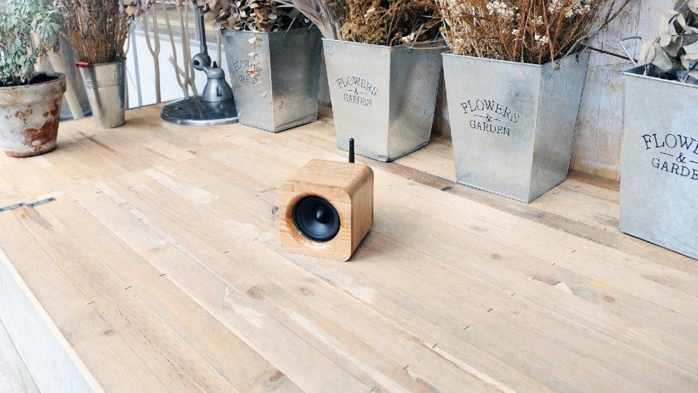 Image of Min622 portable bluetooth speaker-oak