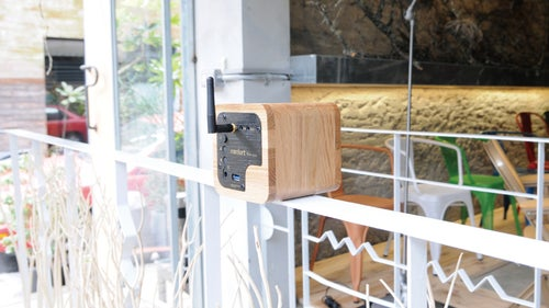 Image of Min623 portable bluetooth speaker-oak