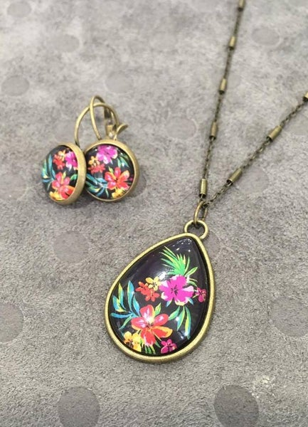 Image of Parure Tropical Flowers bronze