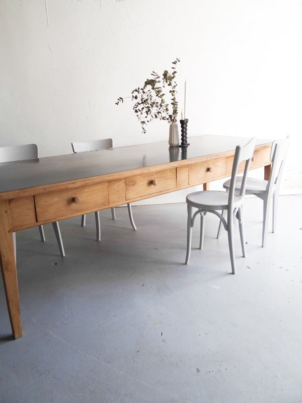 Image of grande table de métier en chêne