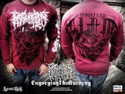 Image of ENGORGING THE AUTOPSY Slam Era LIMITED Cardinal RED longsleeve