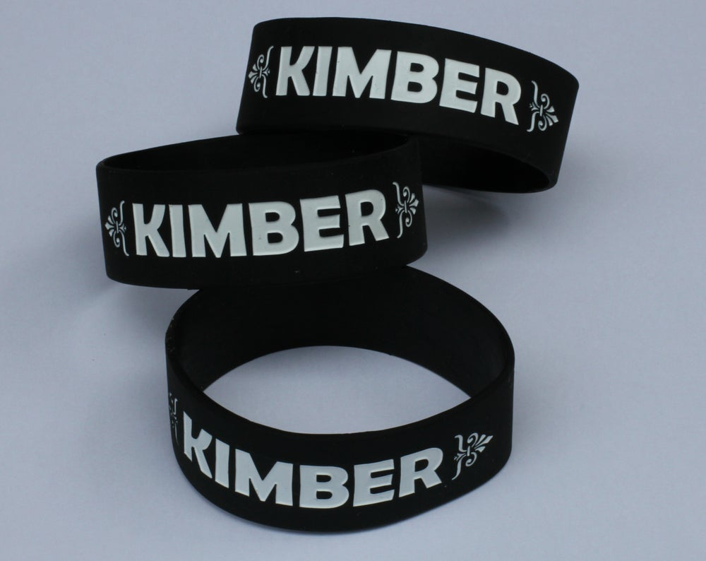 """Image of """"Kimber"""" Rubber Bracelet - Available in Black, Blue, Pink, and Green"""