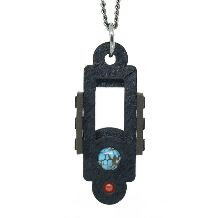 Image of Turquoise and Coral Pendants