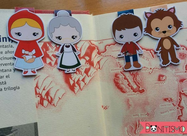 Image of Magnetic Bookmarks - Little Red Riding Hood