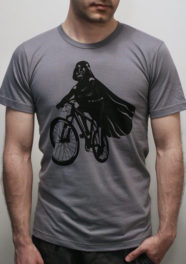 Image of Darth Vader is Riding It - Mens t shirt , Star Wars Darth Vader bike t shirt