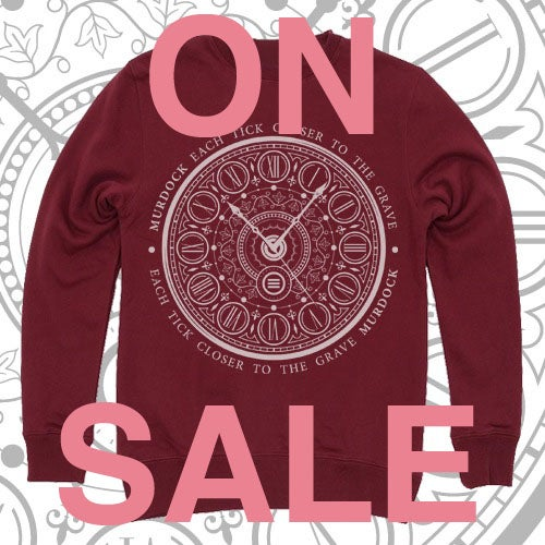 Image of 'Each Tick Closer To The Grave' CREWNECK (Burgundy)