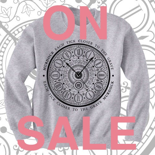 Image of 'Each Tick Closer To The Grave' CREWNECK (Grey)