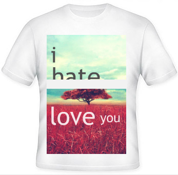 Image of Mamiboys I hate Love You Tees for only Rs 499