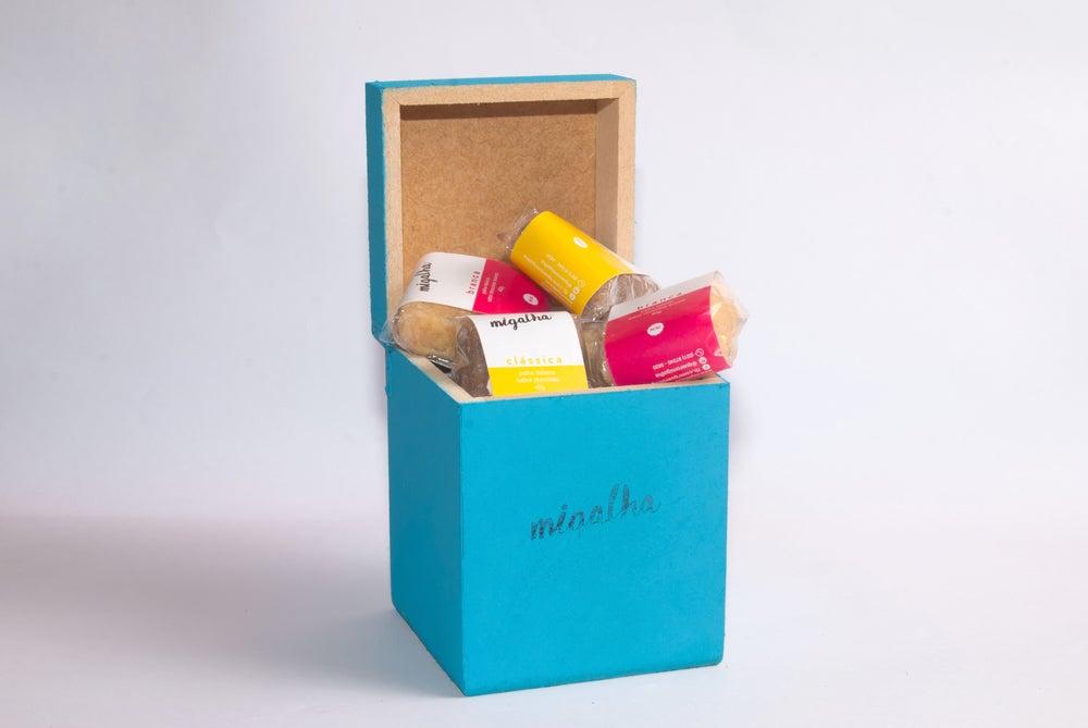 Image of caixa de mini palhas