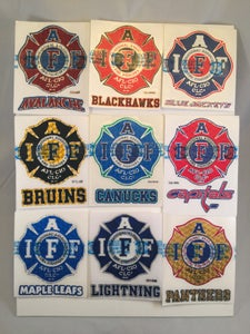 "Image of NHL - 4"" IAFF Maltese Premium Reflective Decals"