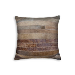 Image of 676685000583 TORINO MADRID COWHIDE PILLOW TAN