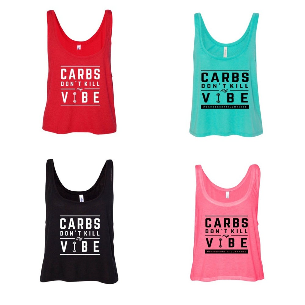 Image of CDKMV Ladies Cropped Flowy Tanktop
